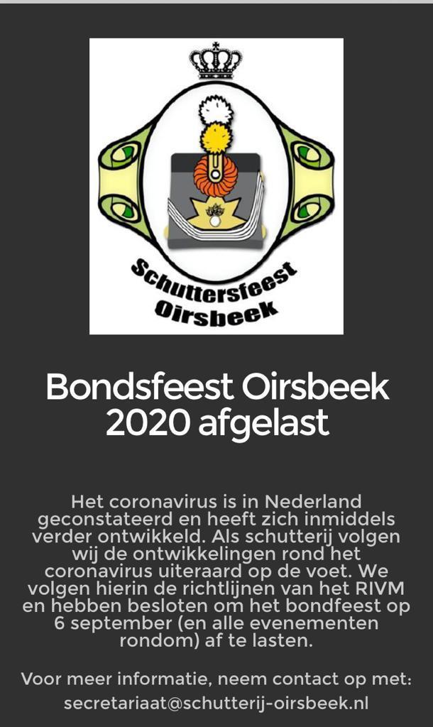 Bondsschuttersfeest 2020